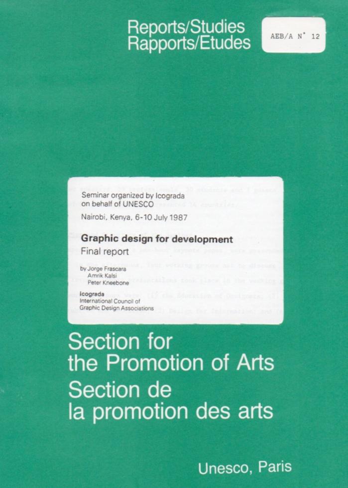 Graphic Design for Development (Seminar organised by Icograda on behalf of UNESCO)
